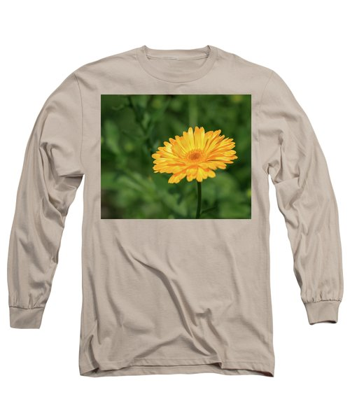 Radiant Summer Flower Soaking It Up Long Sleeve T-Shirt