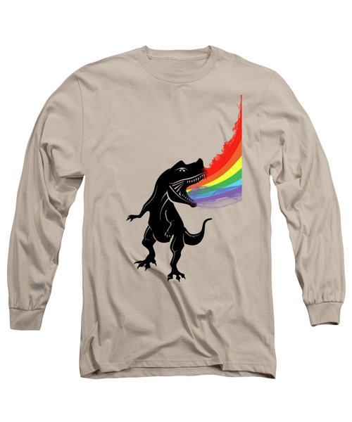 Rainbow Dinosaur Long Sleeve T-Shirt by Mark Ashkenazi