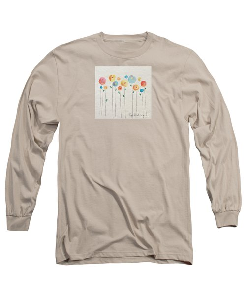 Rainbow Floral Long Sleeve T-Shirt