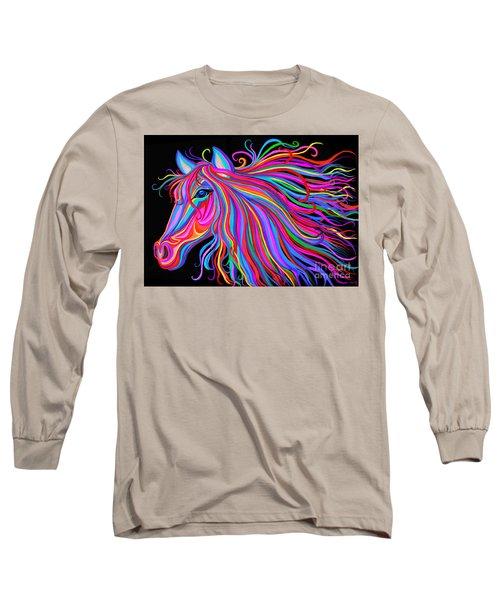 Rainbow Horse  Long Sleeve T-Shirt