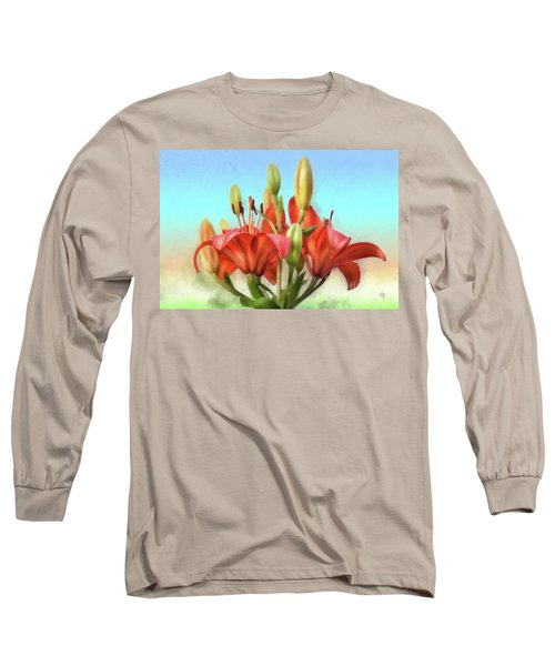 Long Sleeve T-Shirt featuring the photograph Rainbow Lilies by Lois Bryan