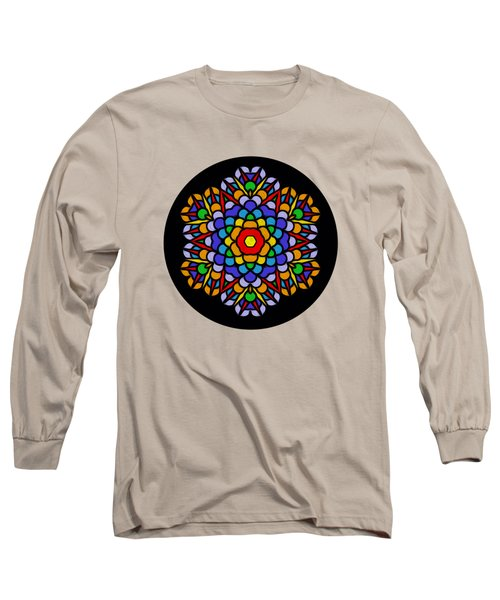 Long Sleeve T-Shirt featuring the photograph Rainbow Mandala By Kaye Menner by Kaye Menner