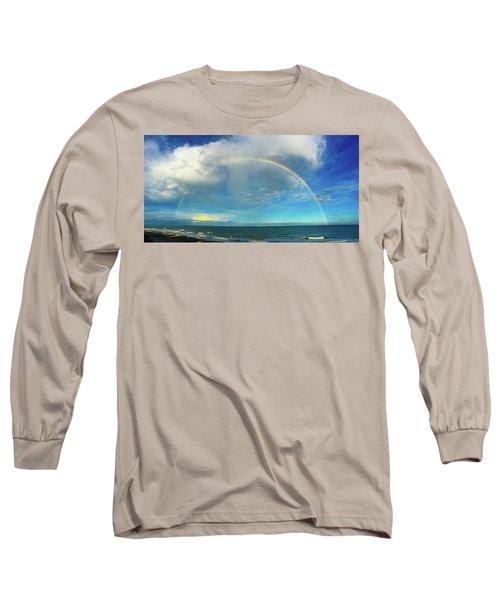 Rainbow Over Topsail Island Long Sleeve T-Shirt