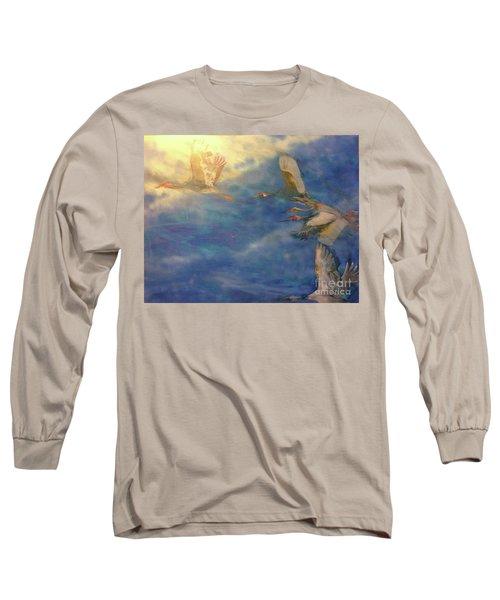 Raining Tears Long Sleeve T-Shirt by FeatherStone Studio Julie A Miller