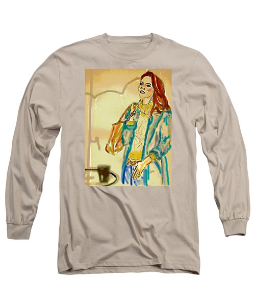 Long Sleeve T-Shirt featuring the digital art Rainny Days And Mondays by Desline Vitto