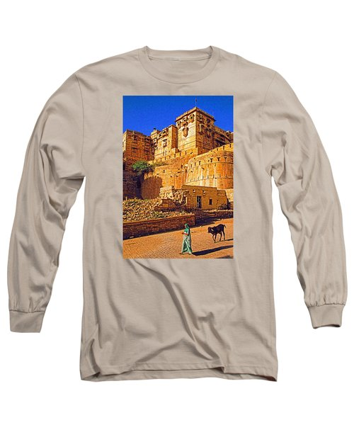 Long Sleeve T-Shirt featuring the photograph Rajasthan Fort by Dennis Cox WorldViews