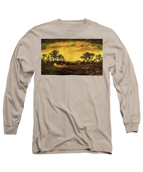 Ralph Blakelock, Indian Encampment Long Sleeve T-Shirt