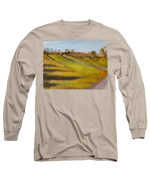 Ranch Entrance Long Sleeve T-Shirt by Helen Campbell