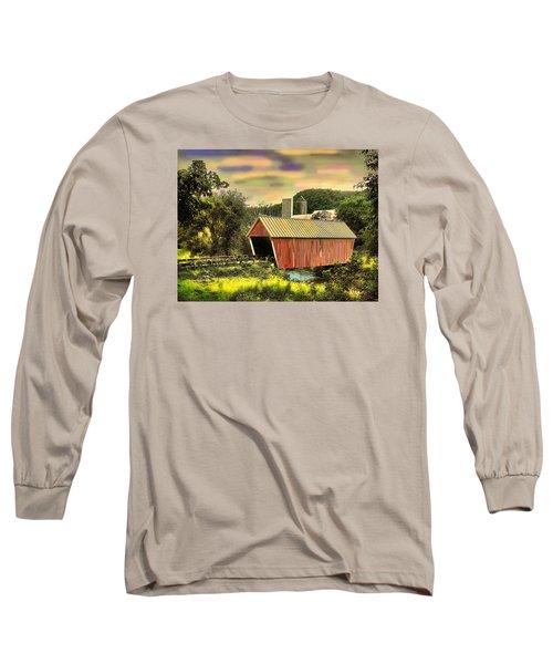 Randolf Covered Bridge Long Sleeve T-Shirt by John Selmer Sr