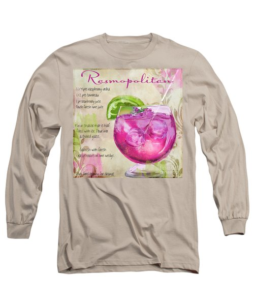 Rasmopolitan Mixed Cocktail Recipe Sign Long Sleeve T-Shirt by Mindy Sommers