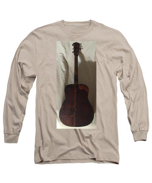 Rat Guitar 2 Back Long Sleeve T-Shirt by Steve  Hester