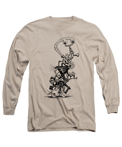 Rat Reverse-cycle Steam Engine Long Sleeve T-Shirt by Kim Gauge