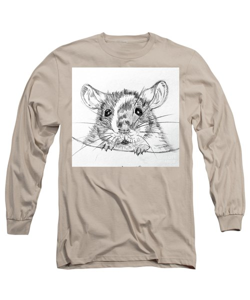 Rat Sketch Long Sleeve T-Shirt