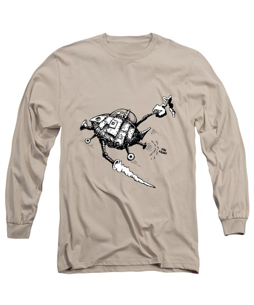 Rats In Space Long Sleeve T-Shirt by Kim Gauge