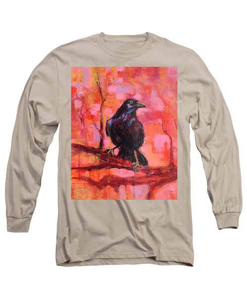 Raven Bright Long Sleeve T-Shirt by Mary Schiros