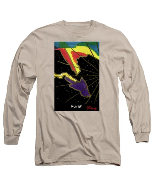 Long Sleeve T-Shirt featuring the painting Raven by Clarity Artists