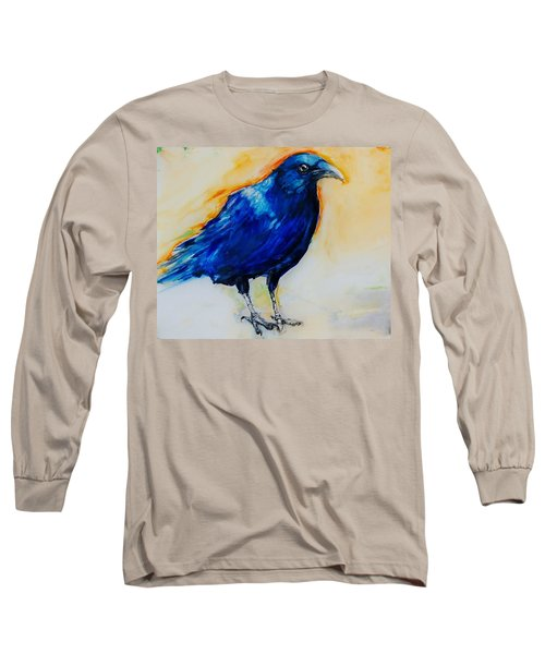 Crow Long Sleeve T-Shirt by Jean Cormier