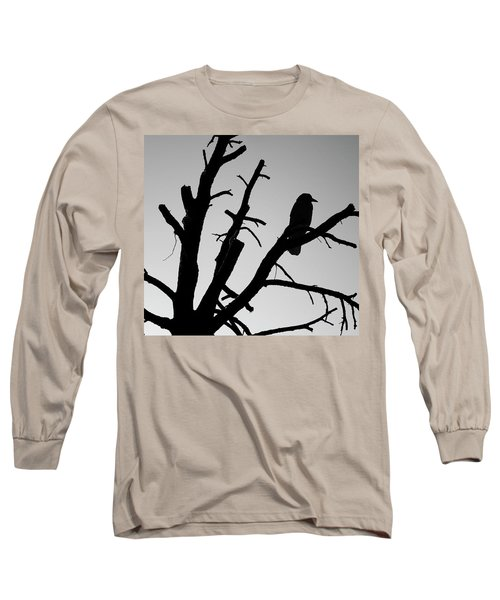 Raven Tree II Bw Long Sleeve T-Shirt