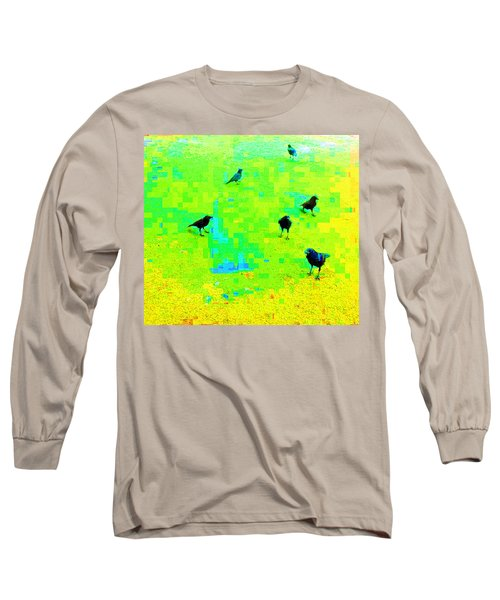 Ravens At Dick's Drive-in Long Sleeve T-Shirt by Karl Reid