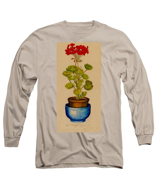 Ray-bet Geranium Long Sleeve T-Shirt by Betty Hammant