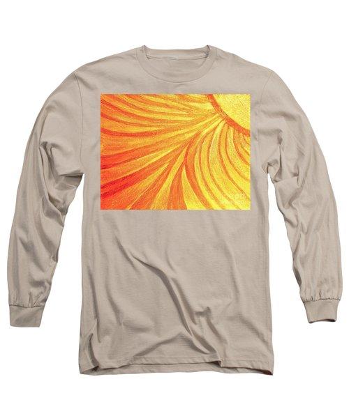 Rays Of Healing Light Long Sleeve T-Shirt by Rachel Hannah