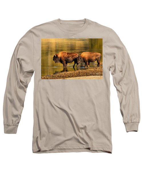 Long Sleeve T-Shirt featuring the photograph Ready To Cross The Yellowstone by Adam Jewell
