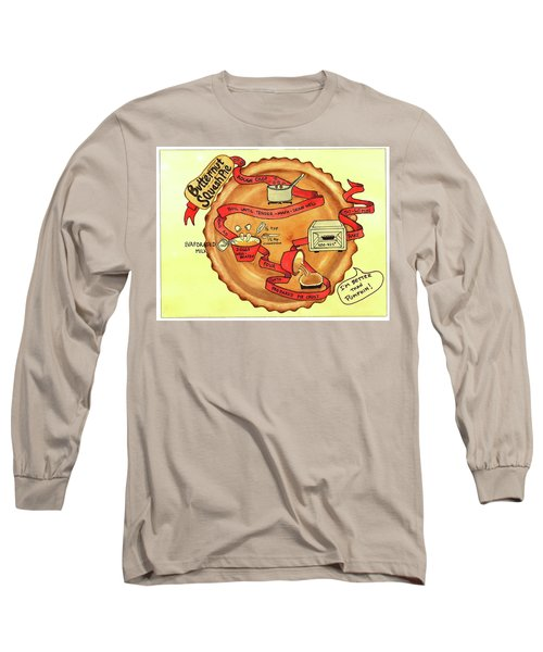 Recipe-butternut Squash Pie Long Sleeve T-Shirt