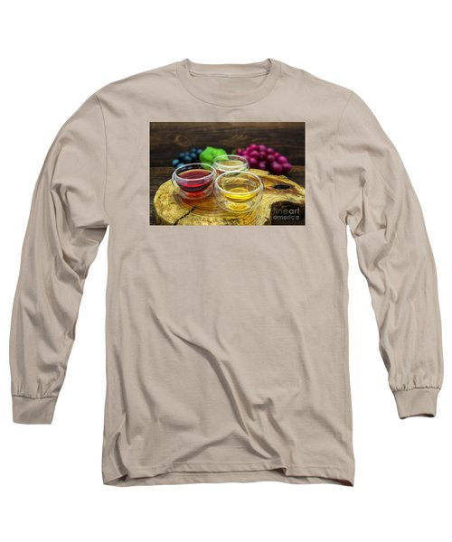 Red And White Wine Long Sleeve T-Shirt