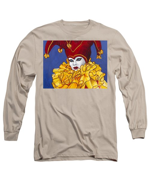 Red And Yellow Carnival Jester Long Sleeve T-Shirt