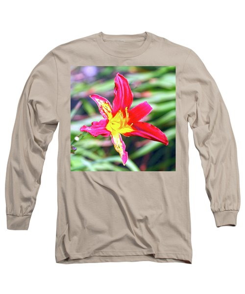 Red And Yellow Orchid Long Sleeve T-Shirt