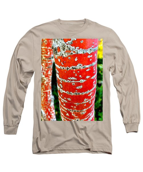 Red Bark Birch Long Sleeve T-Shirt