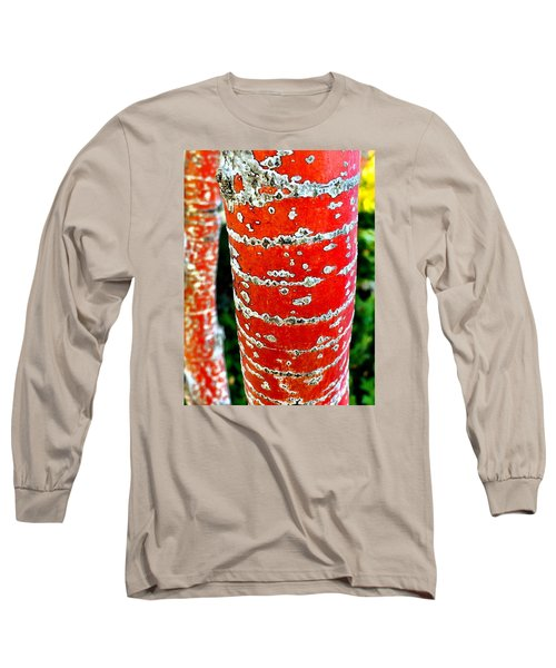 Red Bark Birch Long Sleeve T-Shirt
