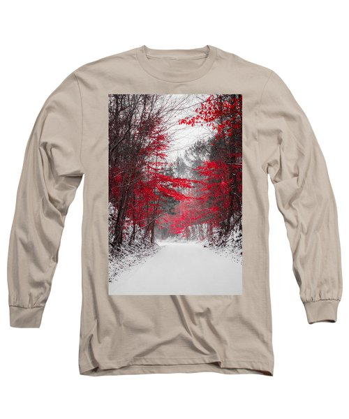 Red Blossoms  Long Sleeve T-Shirt