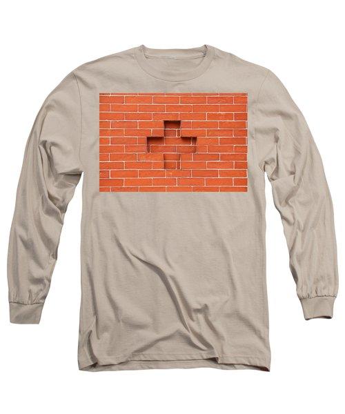 Red Brick Cross Long Sleeve T-Shirt