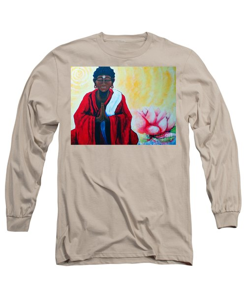Red Buddha Lotus Long Sleeve T-Shirt