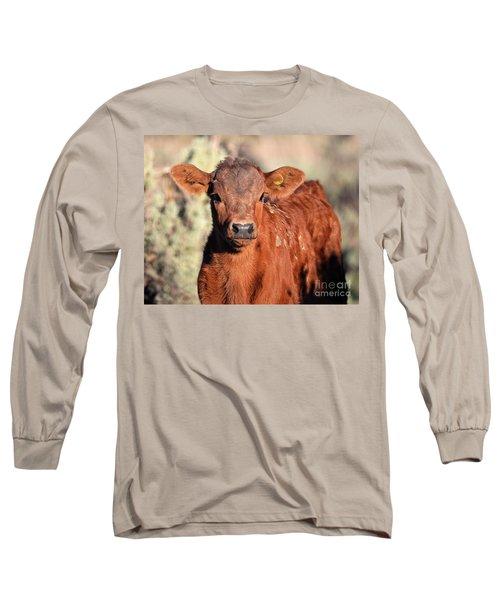 Red Calf Long Sleeve T-Shirt