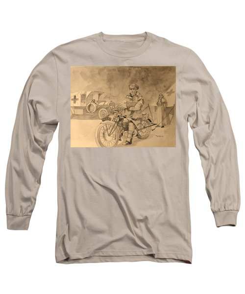 Long Sleeve T-Shirt featuring the painting Red Cross by Ray Agius