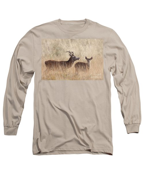 Red Deer Stag And Hind Long Sleeve T-Shirt