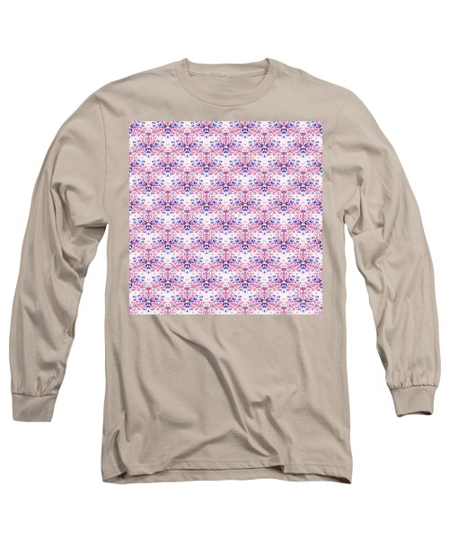 Red Fabric Pattern Long Sleeve T-Shirt