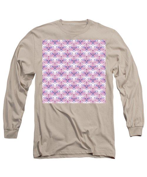 Red Fabric Pattern Long Sleeve T-Shirt
