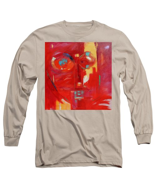 Long Sleeve T-Shirt featuring the painting Red Face by Gary Coleman