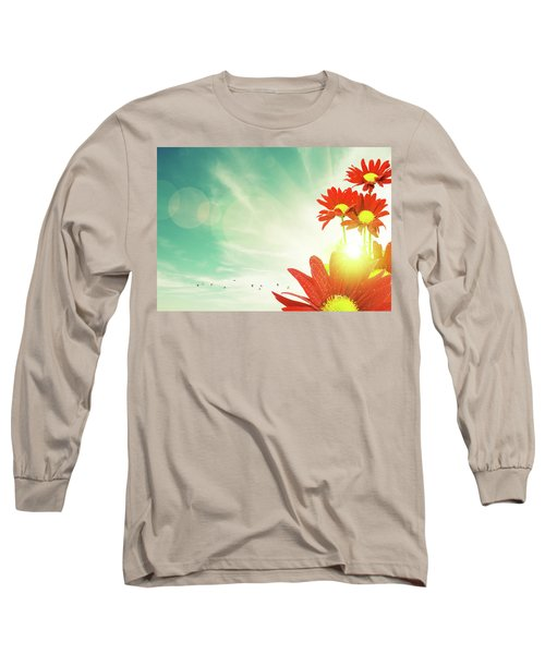 Long Sleeve T-Shirt featuring the photograph Red Flowers Spring by Carlos Caetano