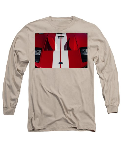 Red Ford Gt Hood Long Sleeve T-Shirt