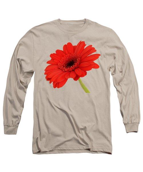 Red Gerbera Daisy 2 Long Sleeve T-Shirt