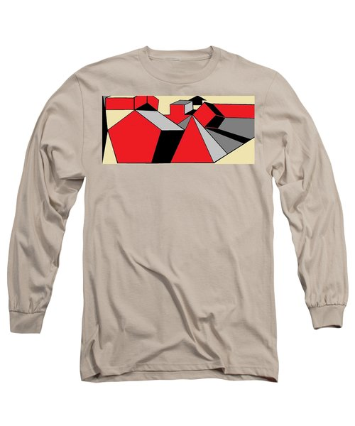 Red, Grey, Cream 2 Long Sleeve T-Shirt