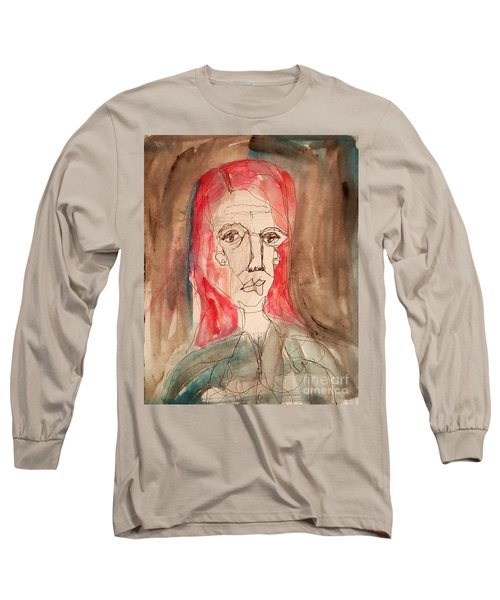 Red Headed Stranger Long Sleeve T-Shirt by A K Dayton