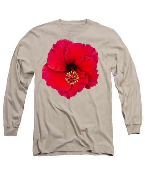 Red Hibiscus H11 Long Sleeve T-Shirt