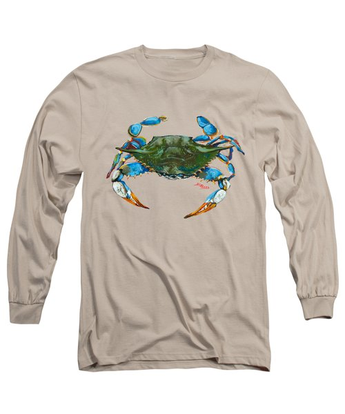 Red Hot Crab Long Sleeve T-Shirt by Dianne Parks