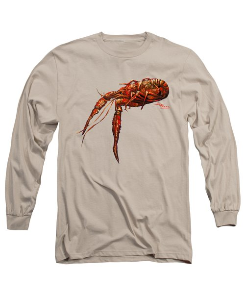 Red Hot Crawfish Long Sleeve T-Shirt by Dianne Parks