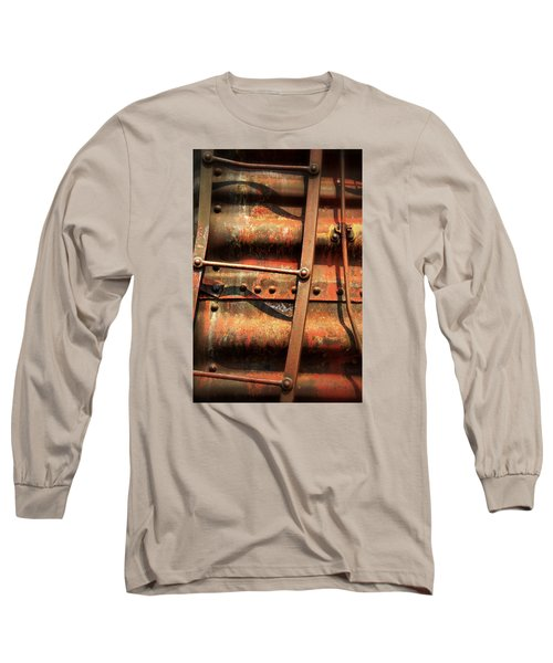 Red Ladder Long Sleeve T-Shirt by Newel Hunter